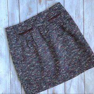 LOFT Tweed Zip Pocket Skirt